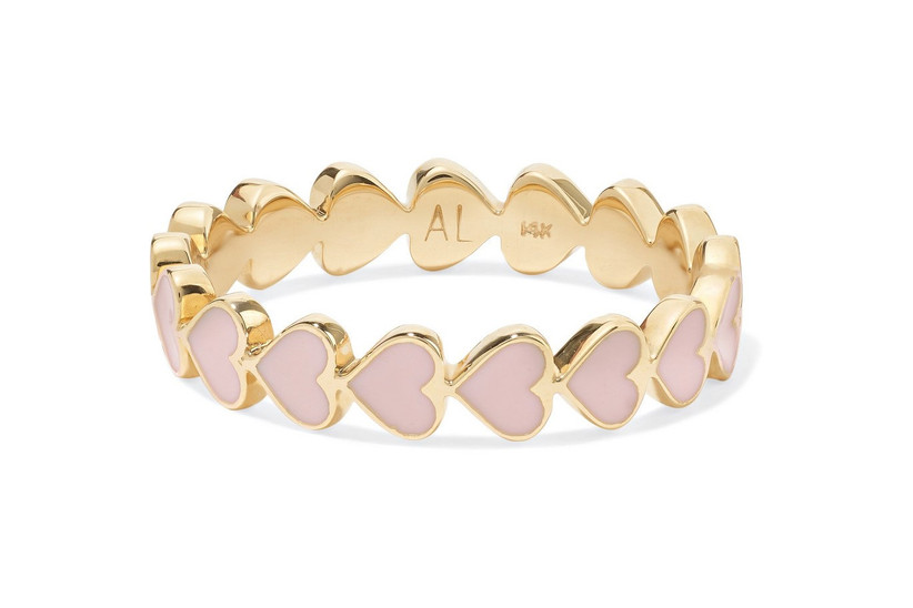 Gold heart stacking ring
