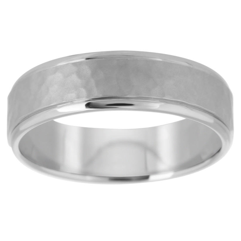 Hammered effect ring