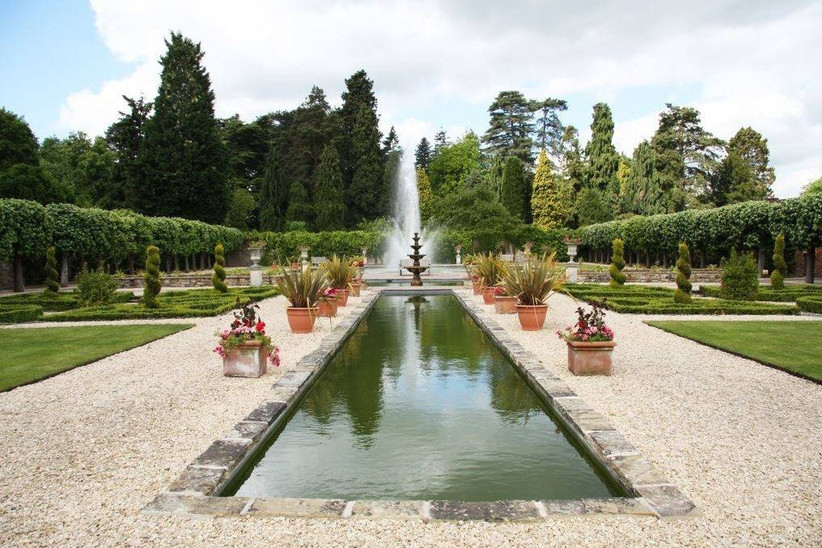 Water foundation is a wedding venue grounds