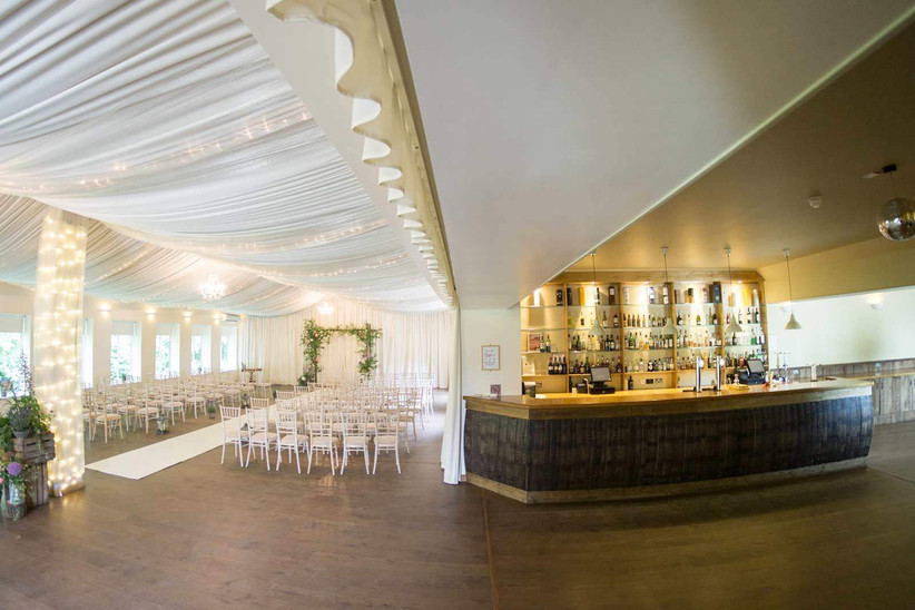 Marquee and bar at Logie Country House