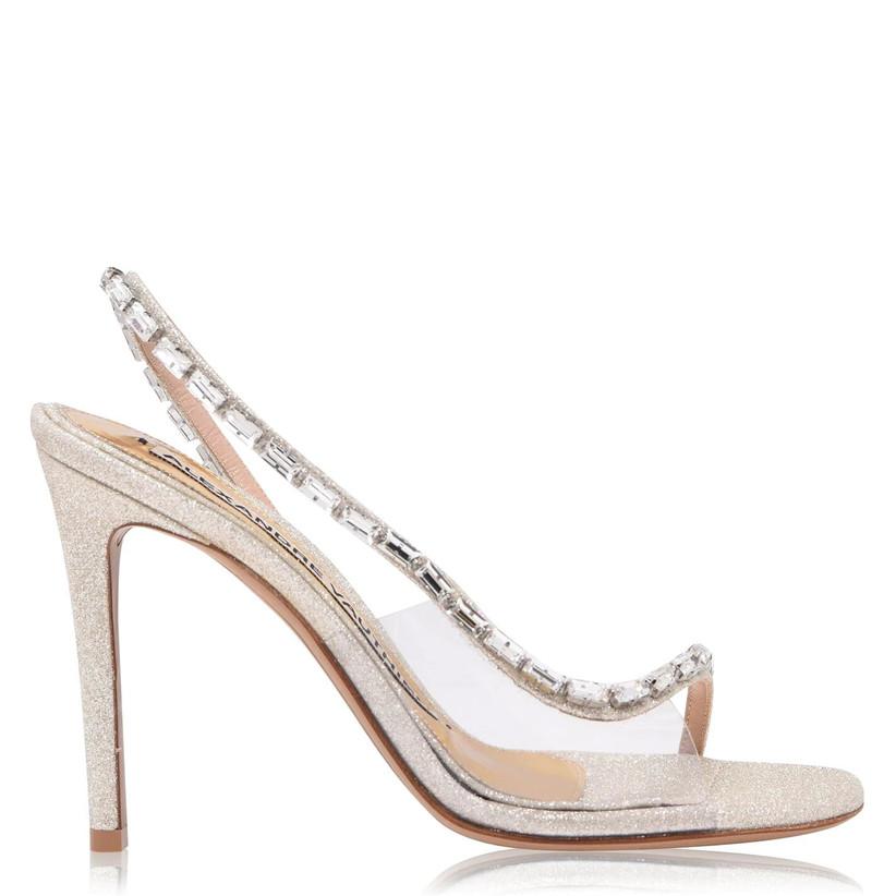 Rhinestone covered wedding heels