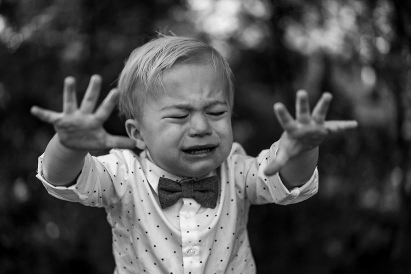 Child upset at a wedding