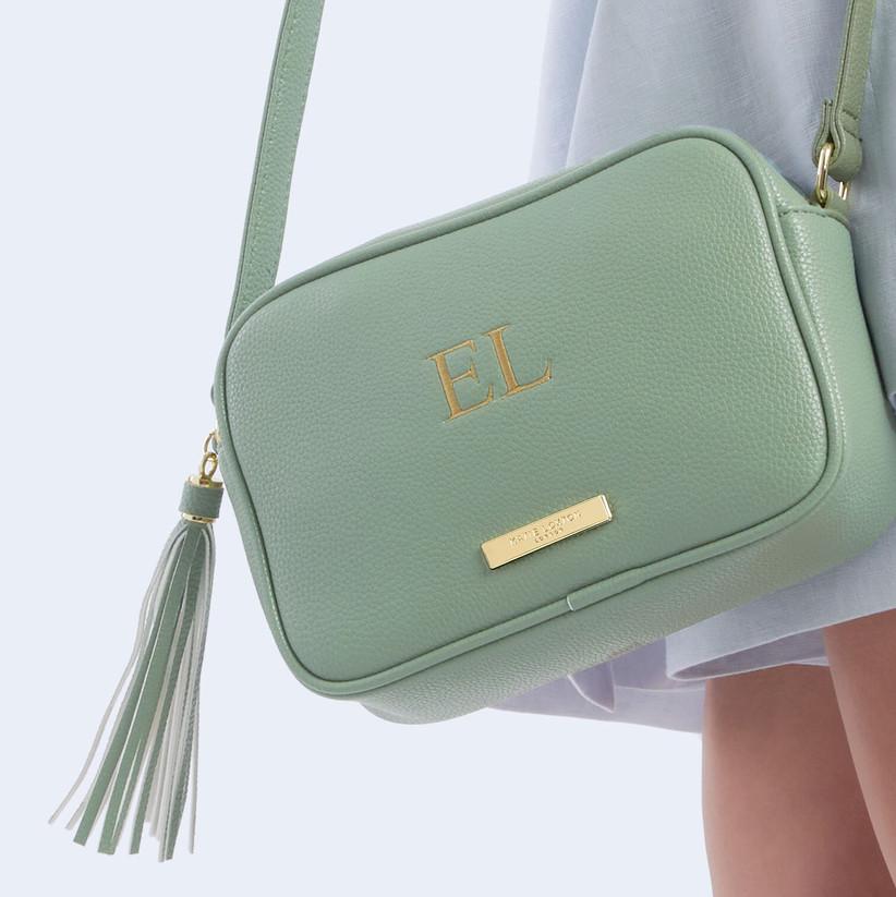 Персонализированная сумка через плечо Katie Loxton мятно-зеленого цвета
