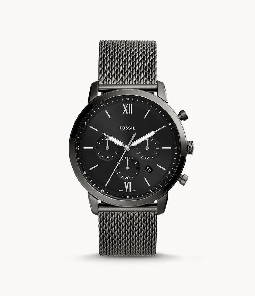 Black stainless steel engagement watch