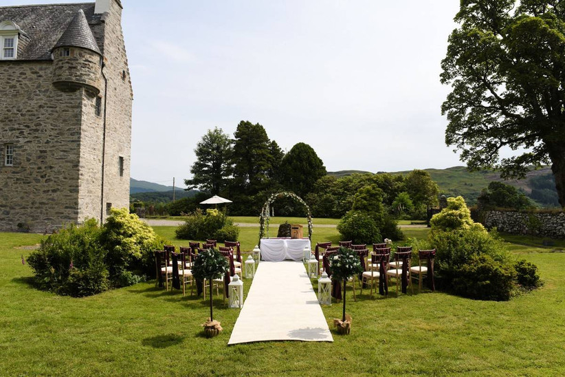 Outside wedding ceremony area