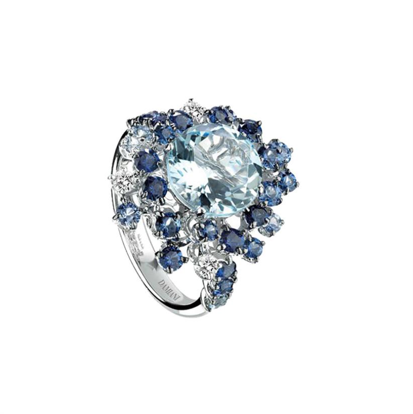 Aquamarine and sapphire