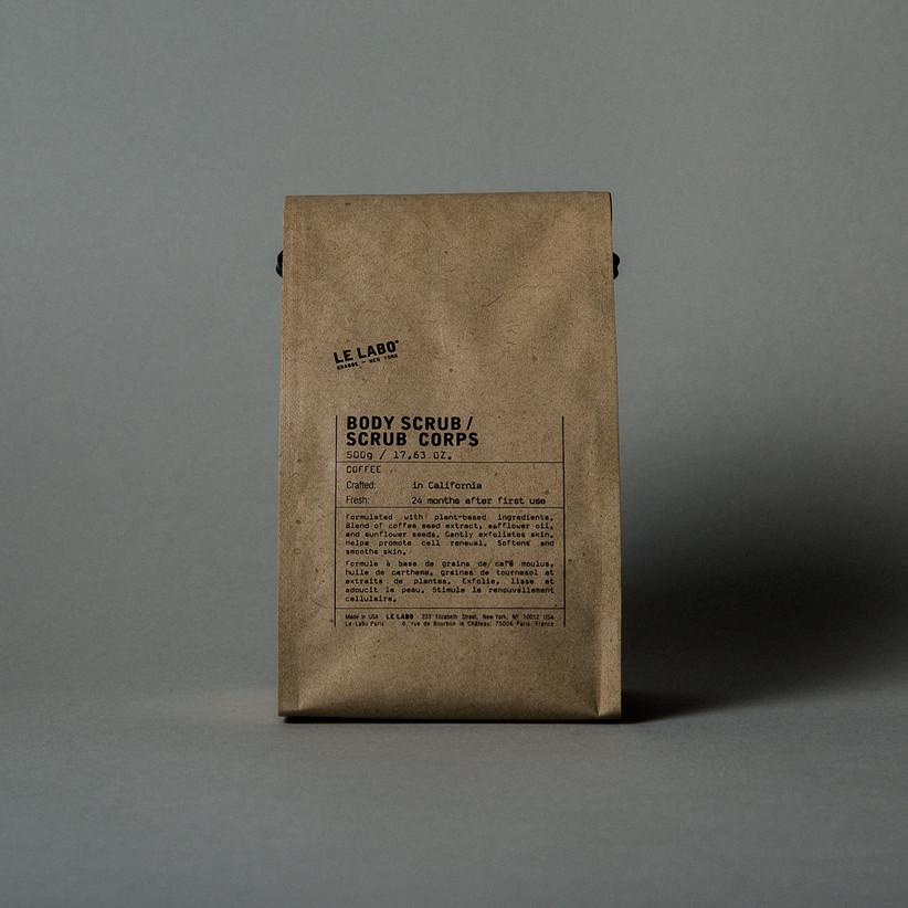 Coffee scrub brown bag