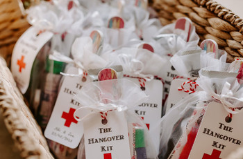 Wedding Hangover Kit: 15 Items to Include That Your Guests Will Thank You For