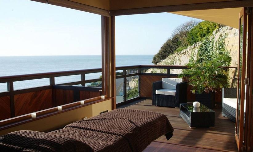 Coastal wedding venue room overlooking the sea