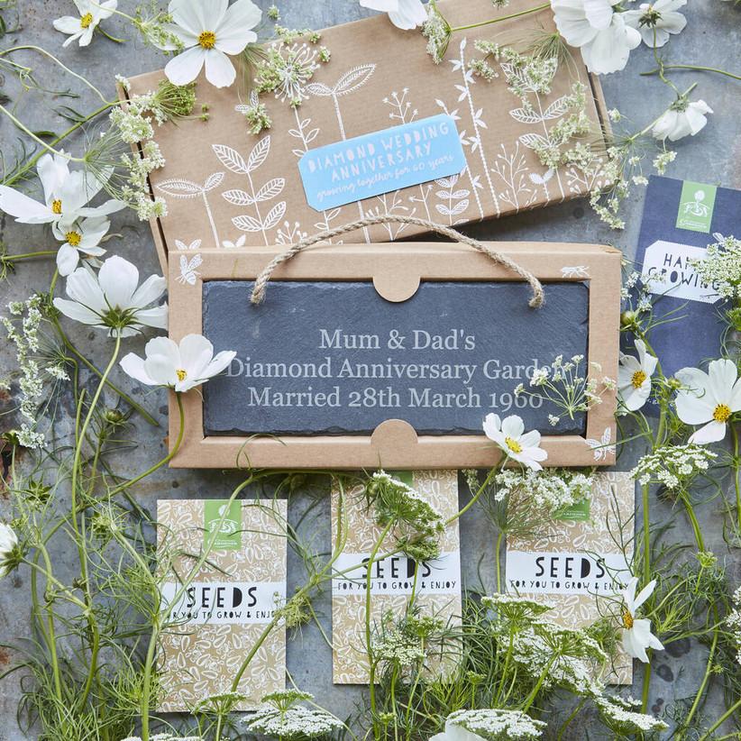 Grow your own diamond wedding anniversary garden
