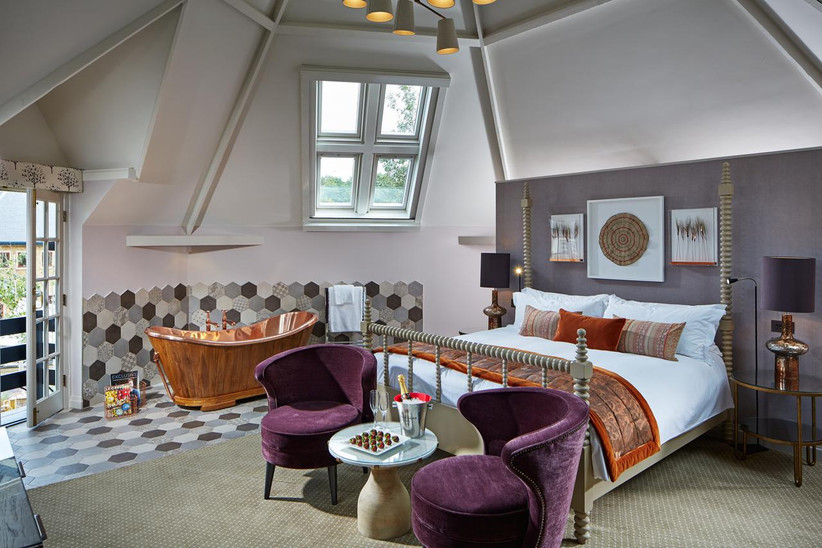 Interior of the granary suite at Pennyhill Park