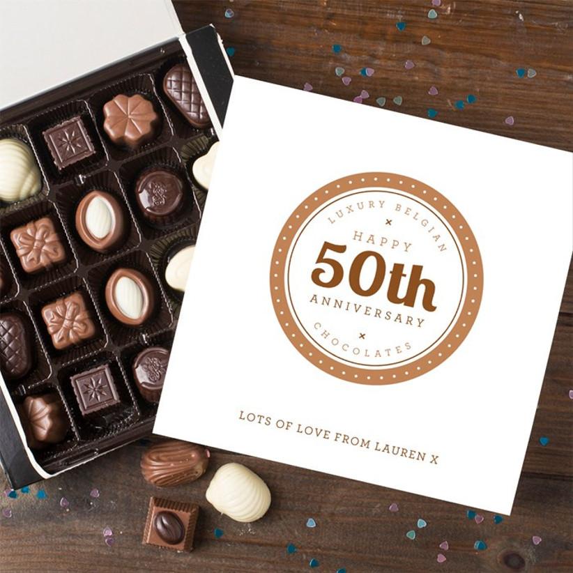 50th anniversary chocolate box