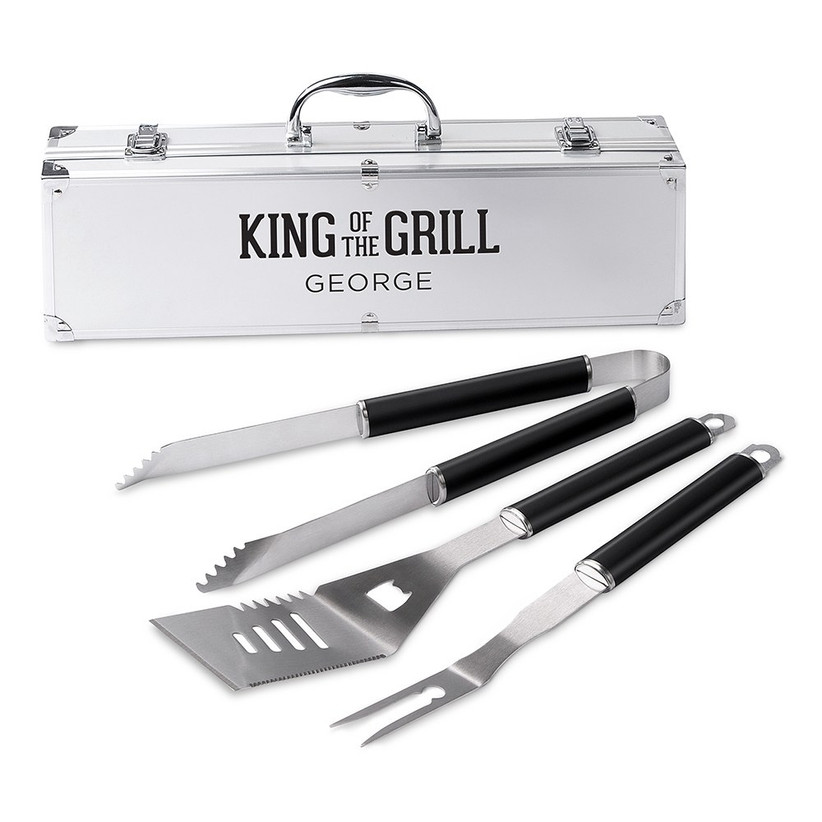 Personalised BBQ grill set