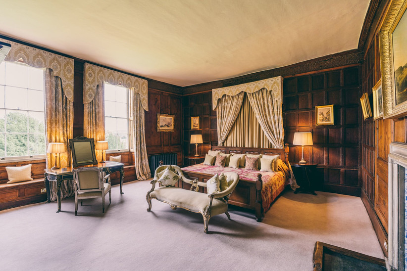 The large master suite at elmore court