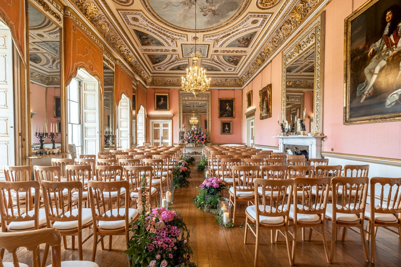 Grand wedding ceremony room
