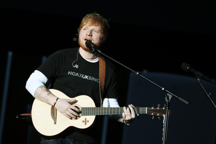 Ed Sheeran singing live