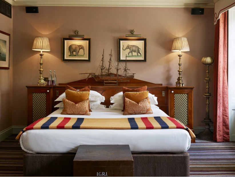 Bedroom of the bridal suite at Zetter Townhouse Clerkenwell
