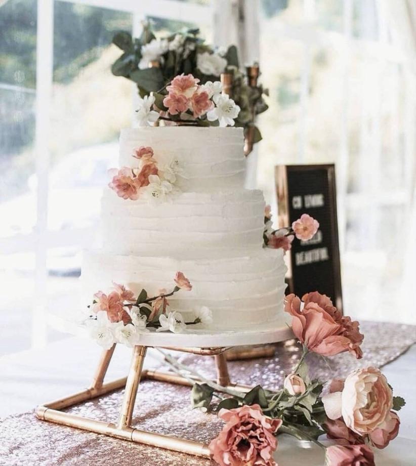 Copper wedding cake stand