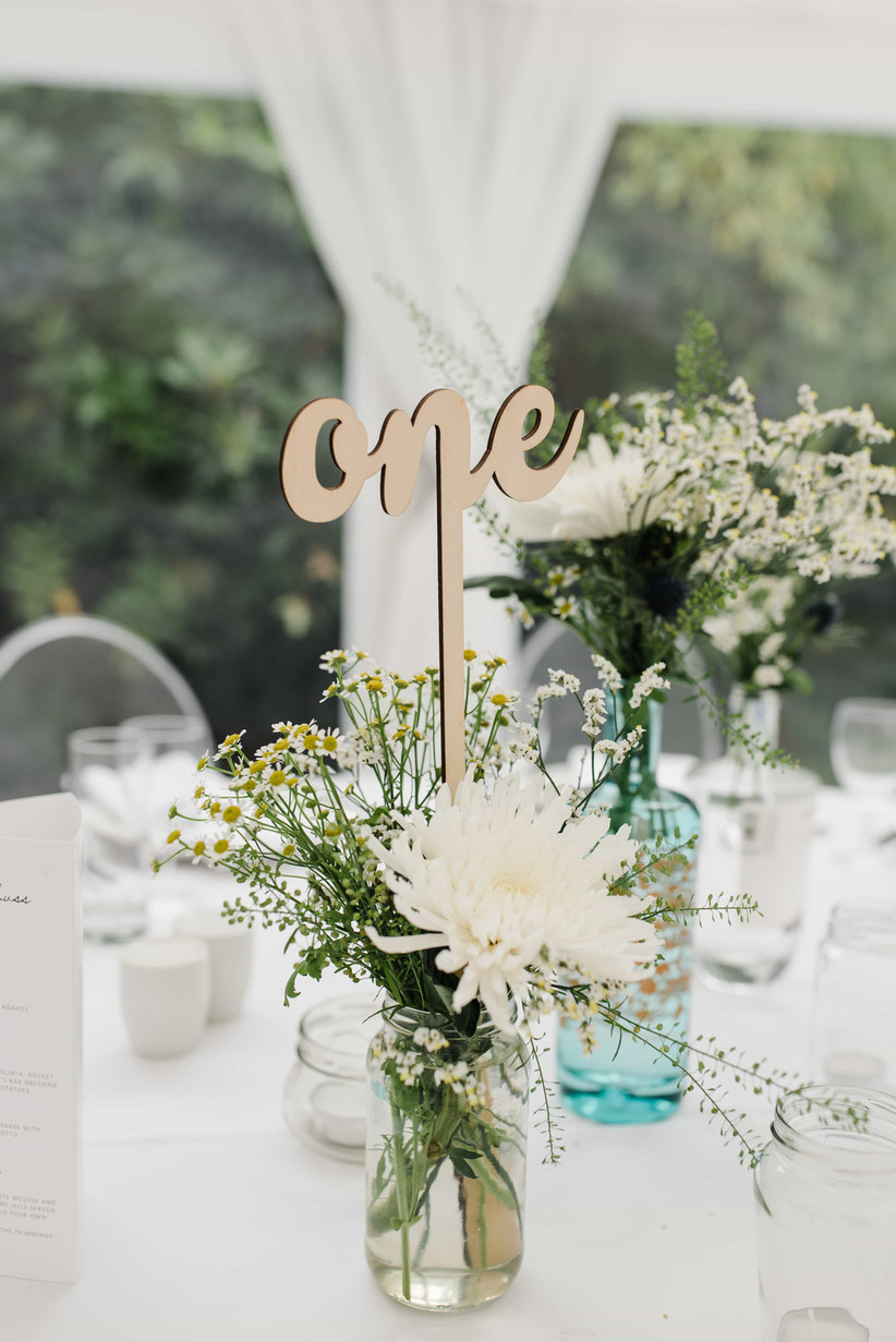 Wooden cut out wedding table number