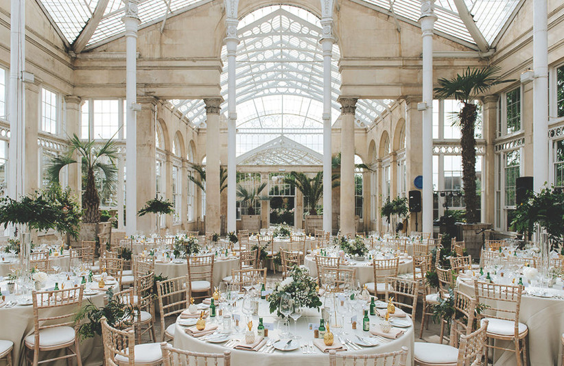 Glass conservatory wedding venue