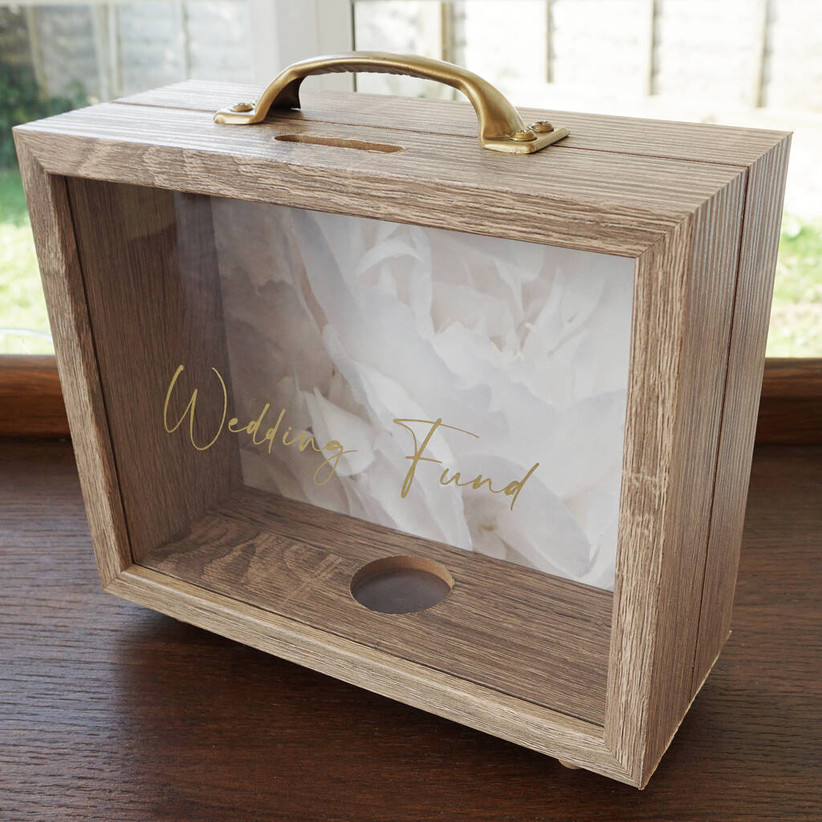 Personalised wedding fund box