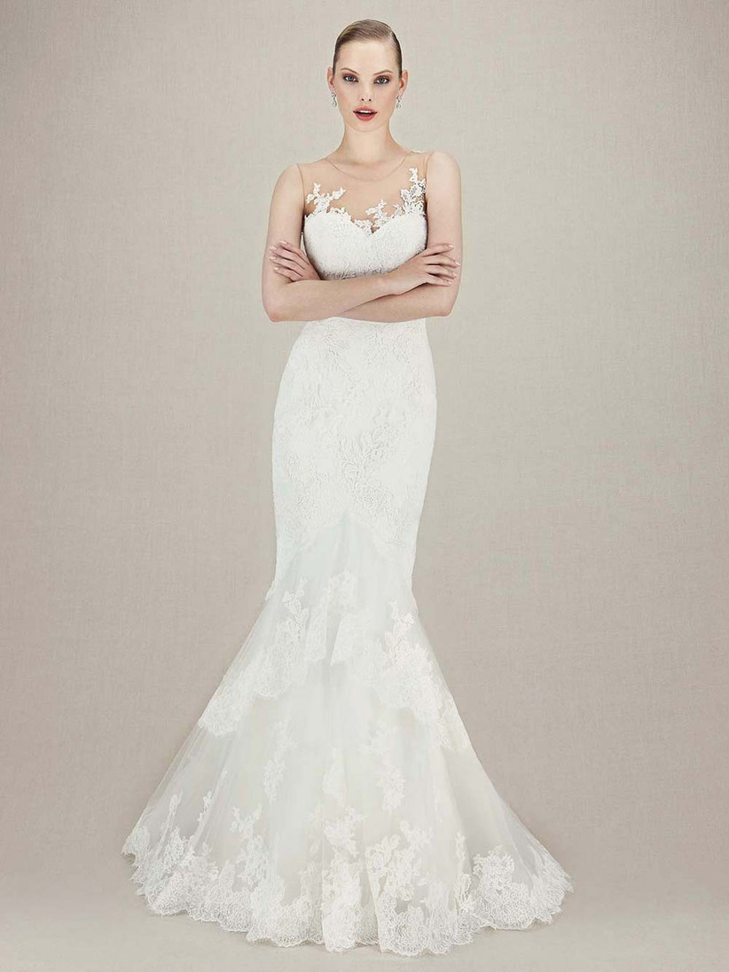 lace-mermaid-wedding-dress-with-an-illusion-neckline