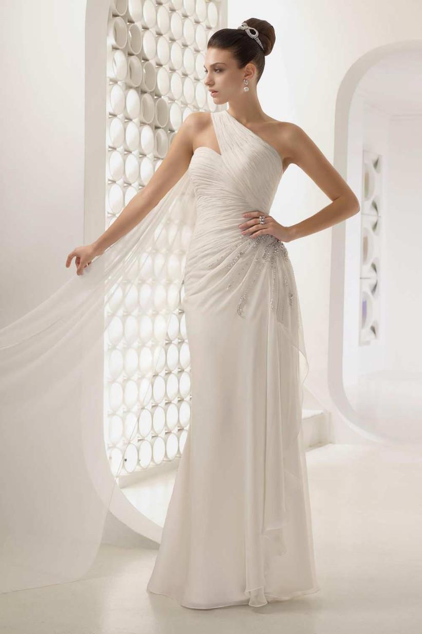 unusual-one-shoulder-wedding-dress