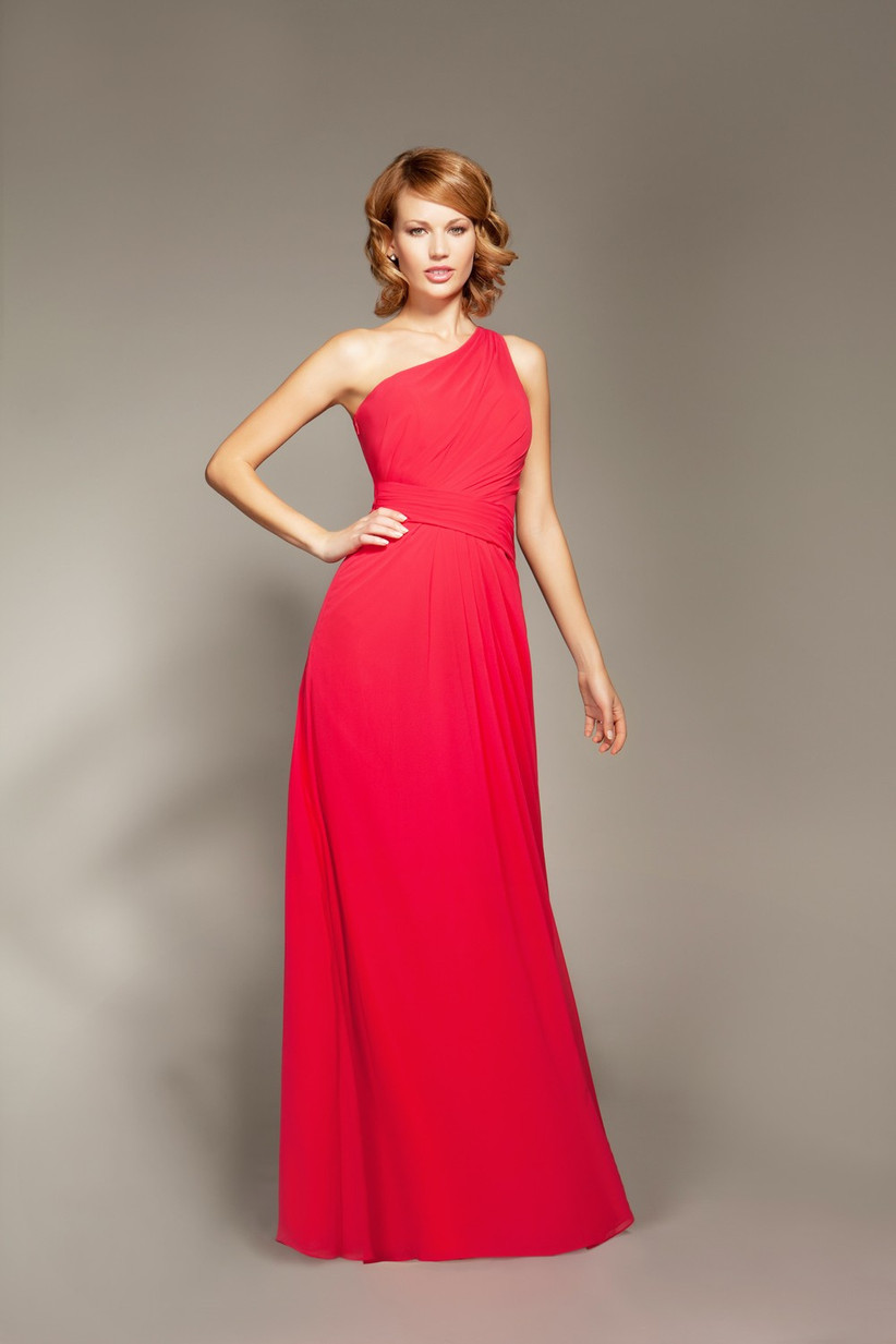 this-one-shoulder-bridesmaid-dress-from-mark-lesley-is-a-sophisticated-grown-up-style-in-a-ravishing-red