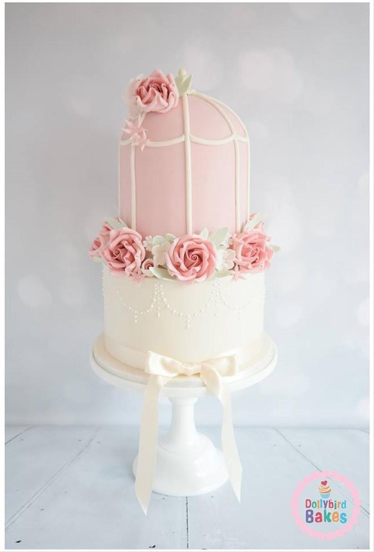 pink-pastel-birdcage-wedding-cake