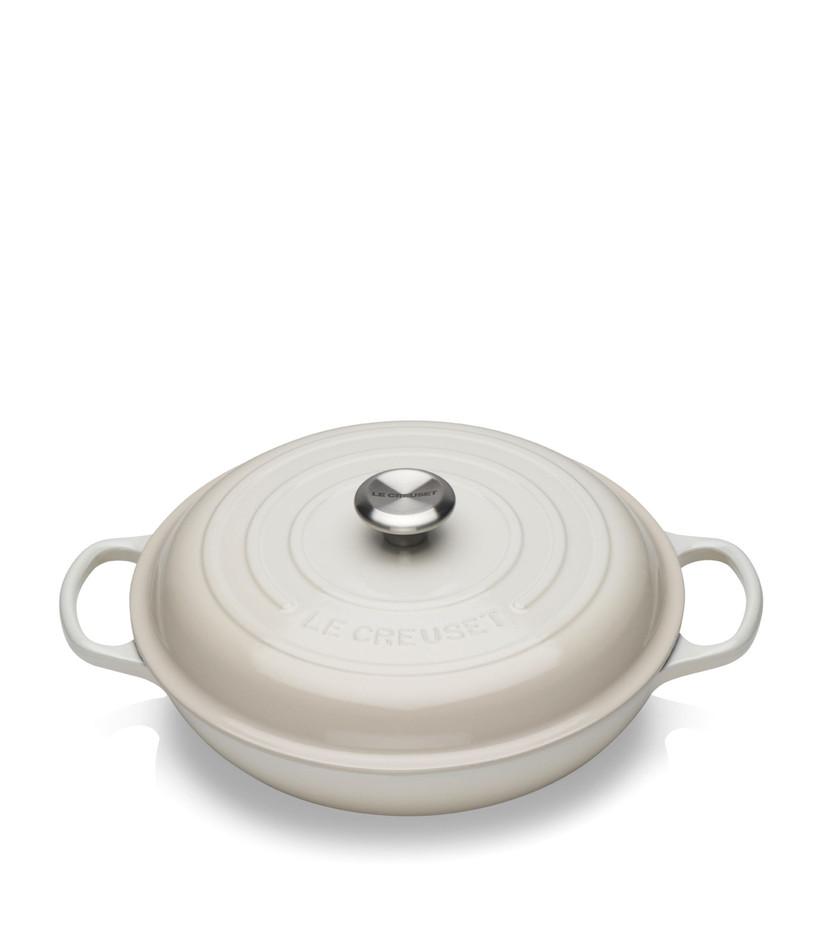 Le Creuset ivory casserole dish