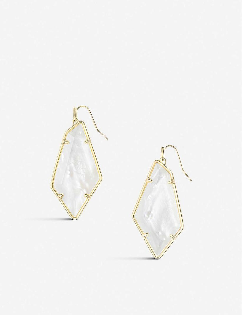 Wedding anniversary stones - mother of pearl earrings
