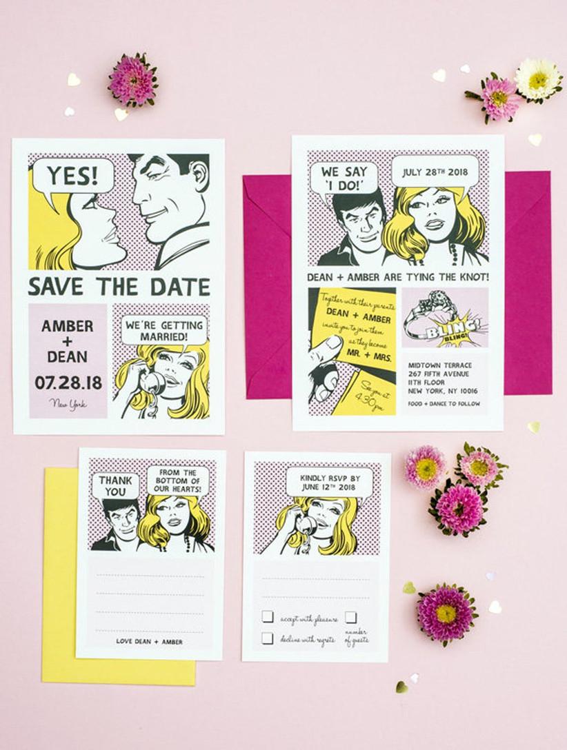 Comic strip save the date