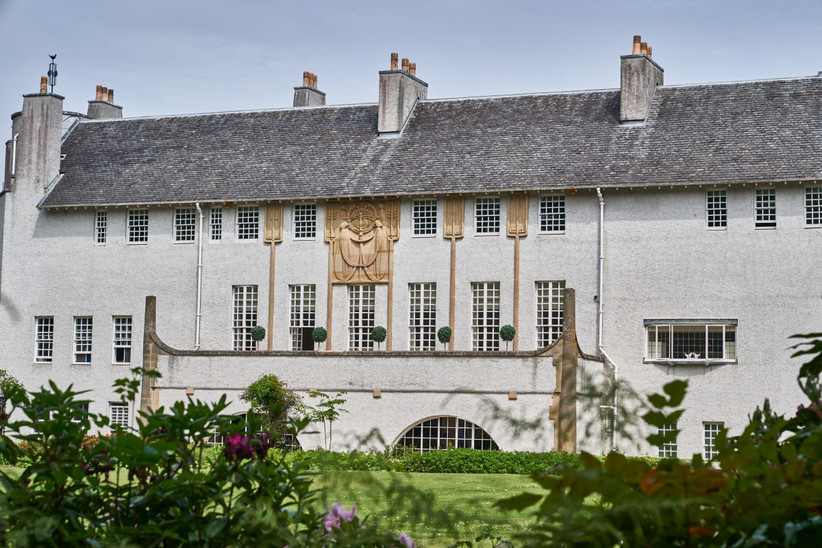Exterior of Glasgow wedding venue House For An Art Lover