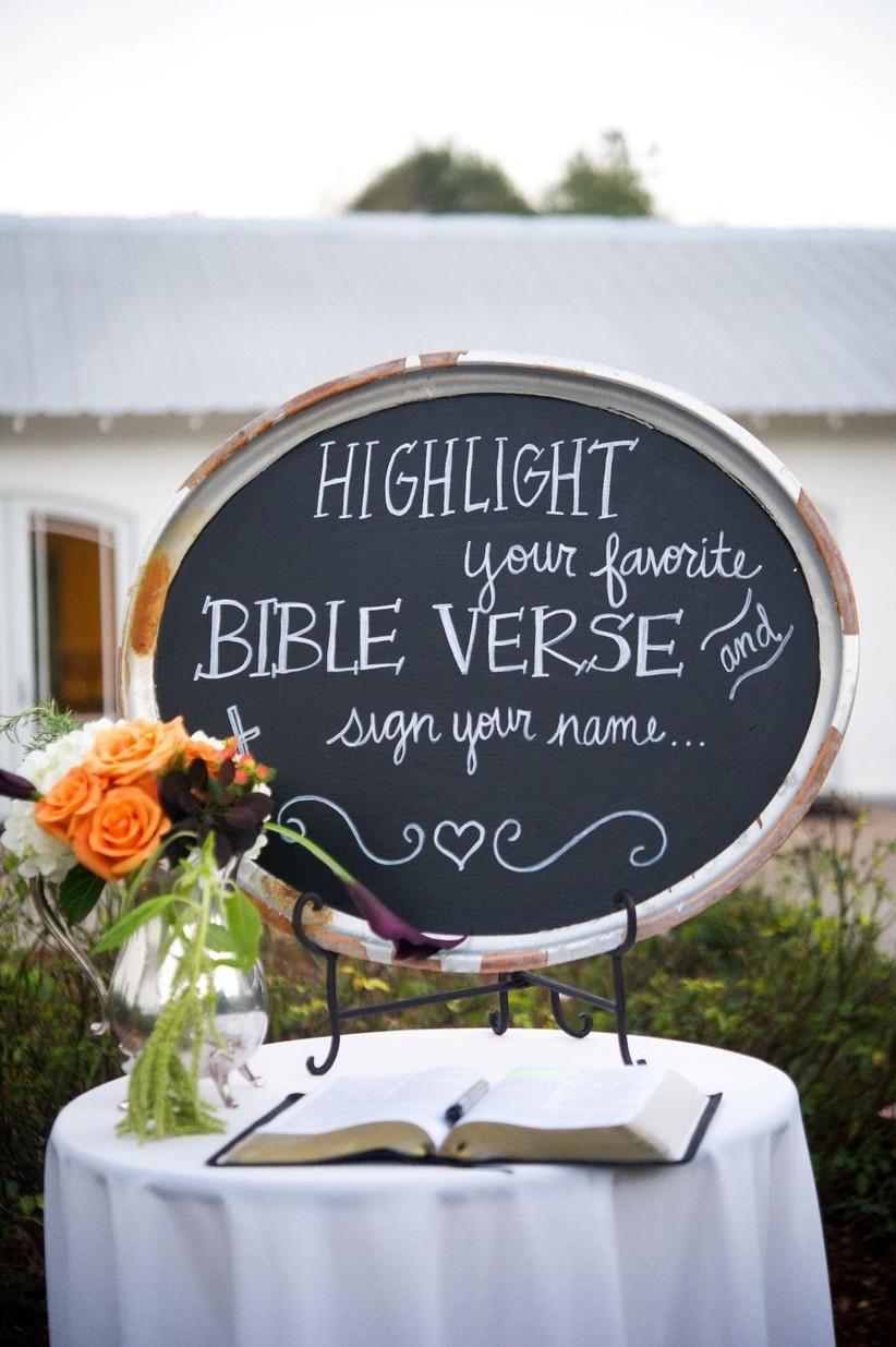 bible guest book