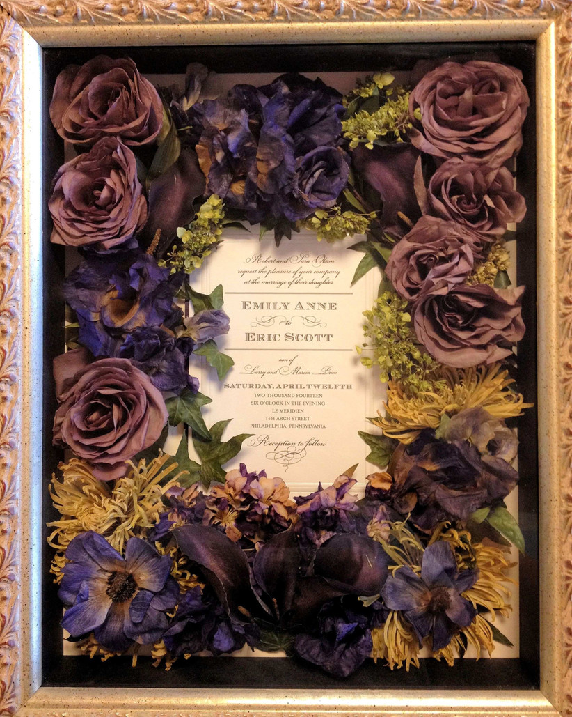 Newest wedding shadow box with bouquet With Wedding Bouquet Preserved Flower Shadow Box by Leigh