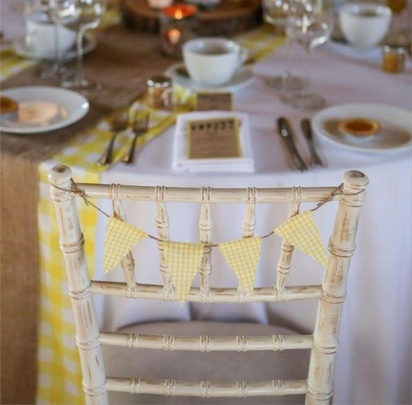 yellow-gingham-bunting-chair-decorations