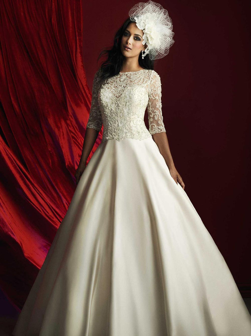 glamorous-ball-gown-wedding-dress-ideal-for-a-religious-ceremony