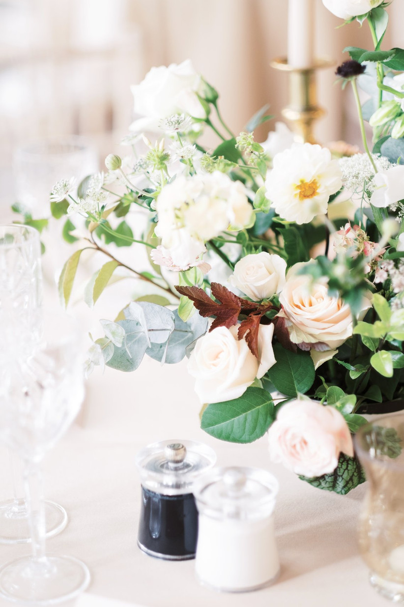 Wedding flowers on a table
