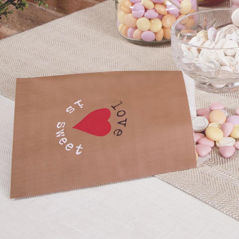 Brown paper sweet bag