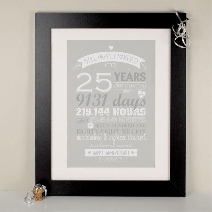 Silver anniversary print