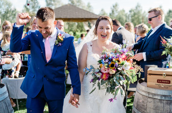 An Outdoor Vineyard Wedding in Essex with a St Patrick Dress and Relaxed BBQ