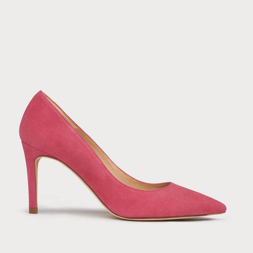 Bright pink bridesmaid shoe
