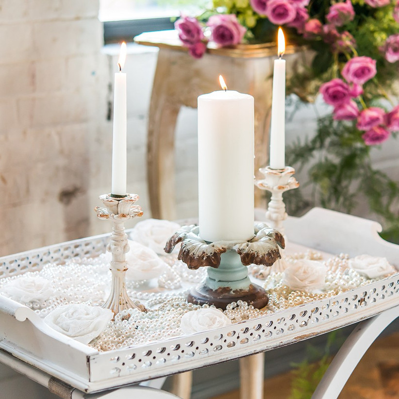 iron vintage inspired candle holder