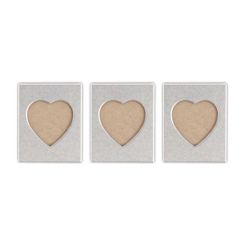 Silver heart shaped frames