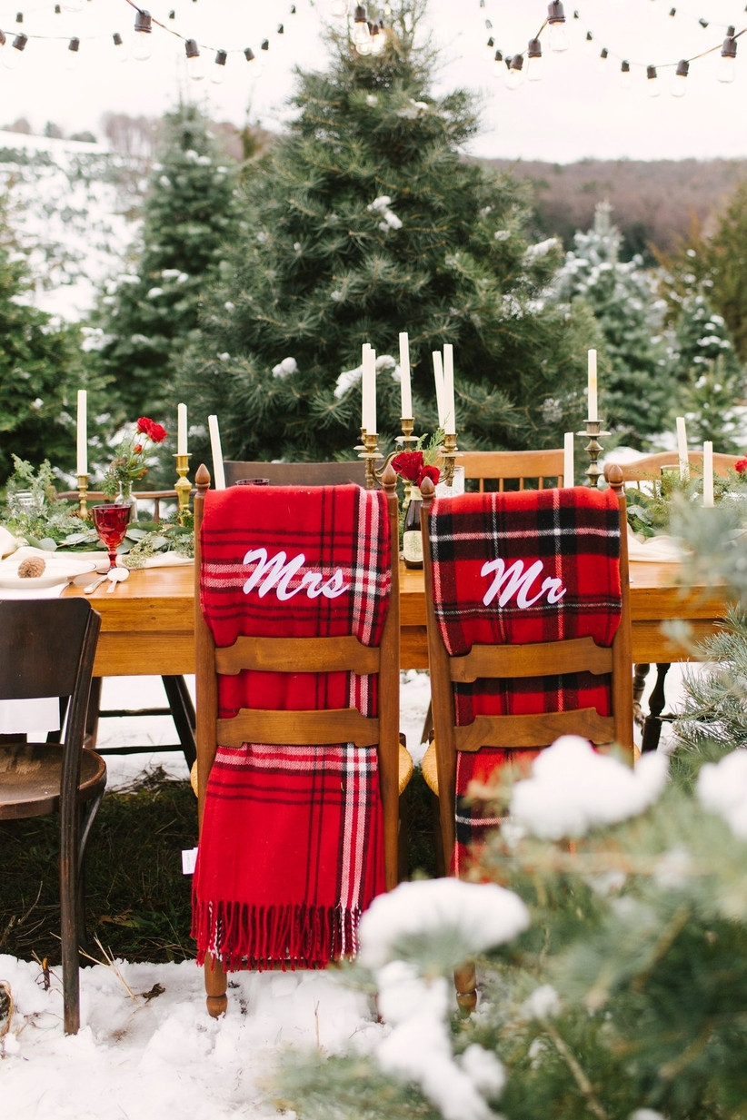 christmas mr and mrs scarves