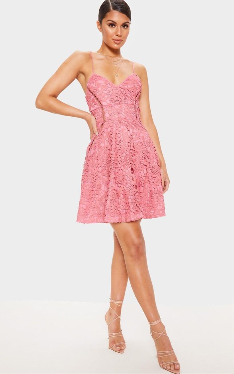 PLT Rose short lace bridesmaid dress
