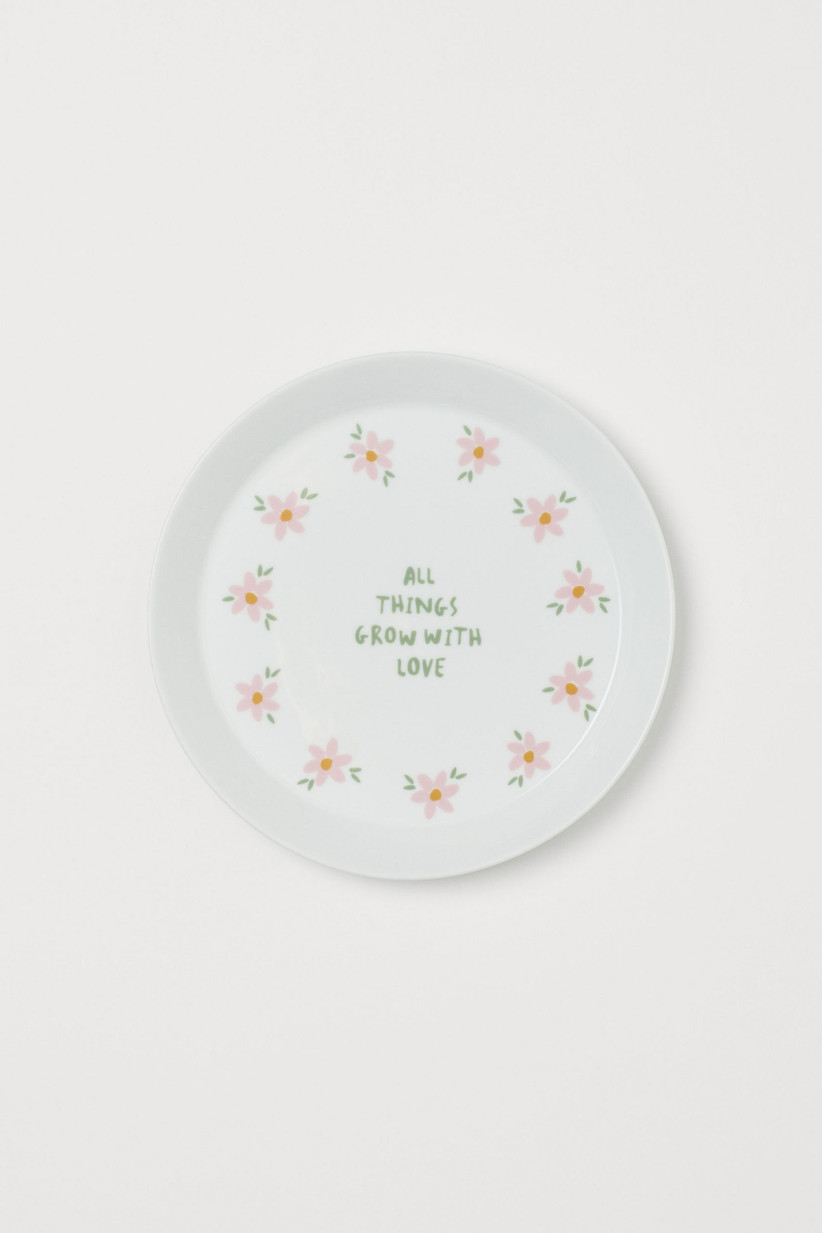 H&M home floral plate