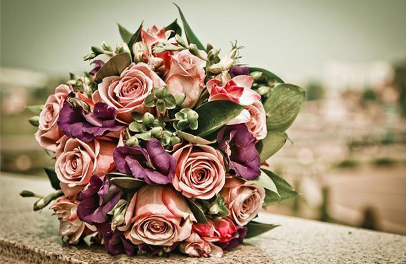 pink-and-purple-rustic-wedding-bouquet