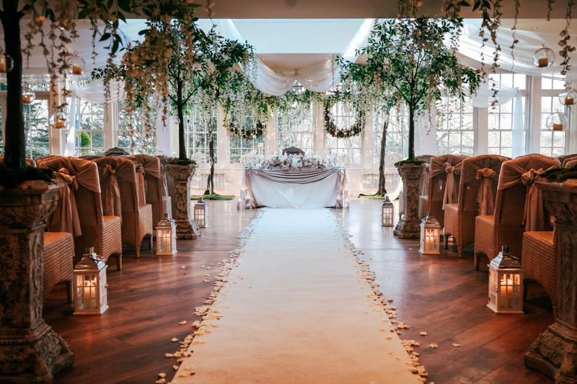 Wedding ceremony at Lancashire Venue Mitton Hall