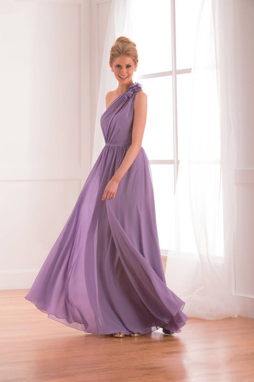 a-beautiful-lilac-one-shoulder-bridesmaid-dress-from-b2-with-a-cinched-waistband